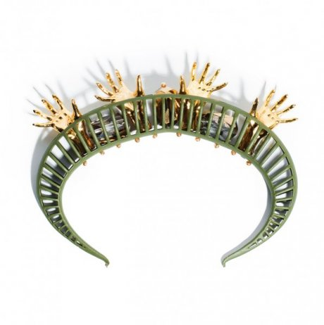 Delusional bracelet in army green, € 293.67 by Heaven Tanudiredja for Honest by
