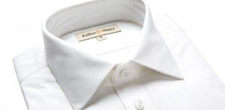 White Herringbone Shirt in organic cotton, £65 by Arthur & Henry