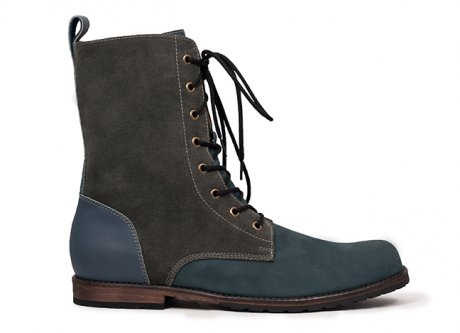Blue Grey Grif's Boot, hand-made in Peru by Fortress of Inca
