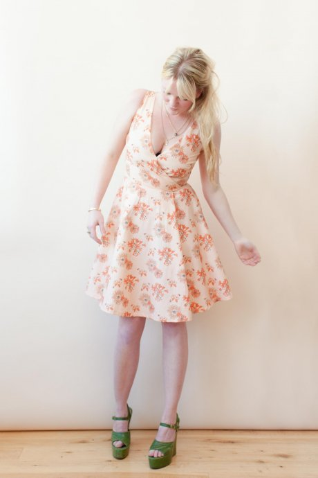 Flora dress in Eloise print by Eloise Jephson from By Hand London, an independent sewing pattern label