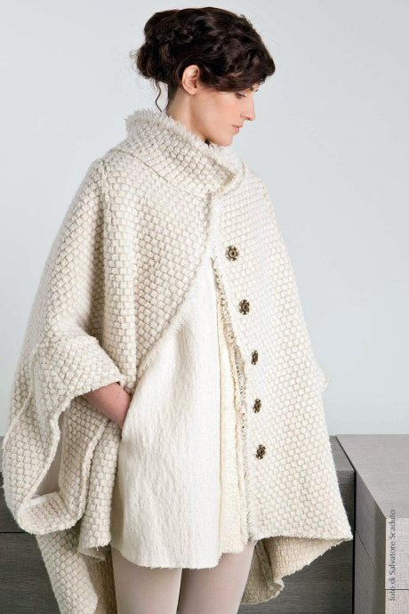 The Continuing Cape from Italian ethical fashion brand Cangiari, made from organic wool