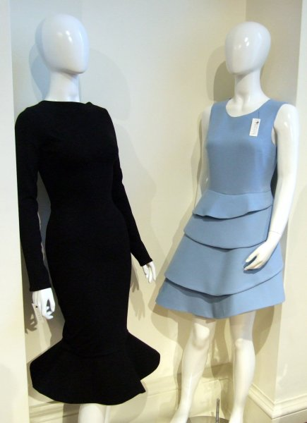 Striking, quirky and sculpted British wool dresses are a signature of Henrietta Ludgate's designs