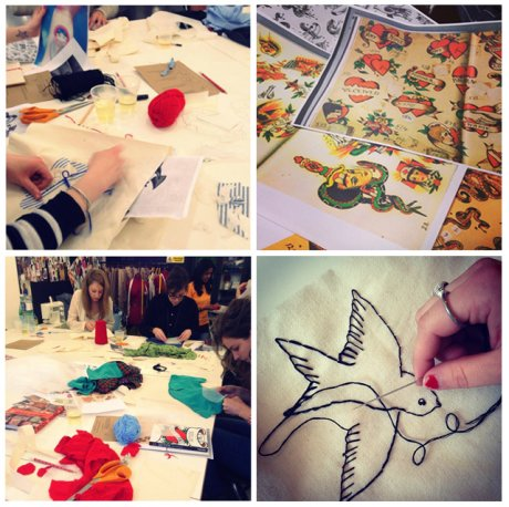 Everything in Colour workshop, taking place during Hubbub's Refashion East weekend