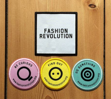 Fashion Revolution recycled yarn patches made by Avery Dennison RBIS