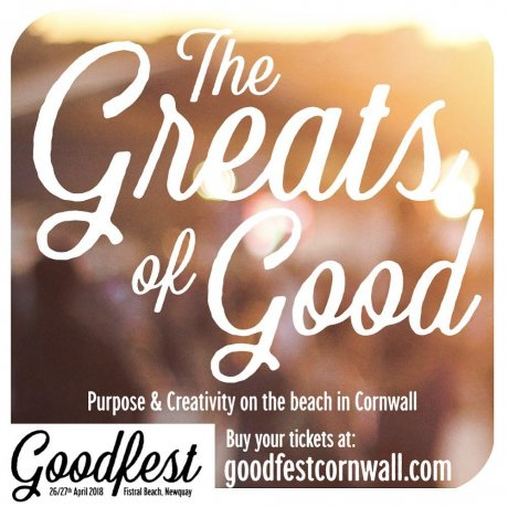 GoodFest Cornwall 2018, Fistral Beach Newquay, founder Ben Akers.