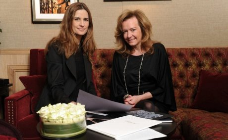 Caroline Scheufele from Chopard with Livia Firth