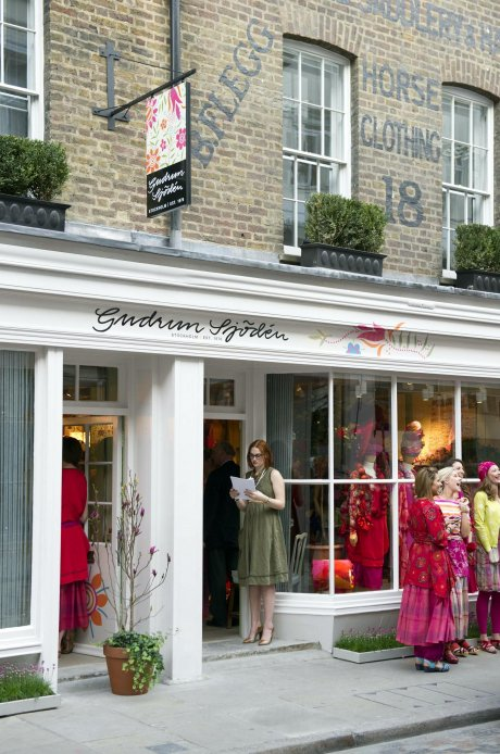 Gudrun Sjödén's Covent Garden store. The brand has a commitment to ethical production