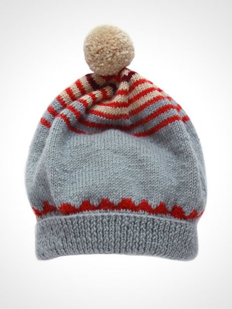 Fair Trade Slouchy Hat, hand-knitted in 100% wool, £36 by Here Today Here Tomorrow