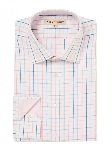 Oxford Pink and Blue Check, £79 by Arthur & Henry