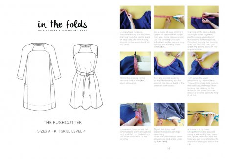 The Rushcutter dress pattern by Emily Hundt at In The Folds