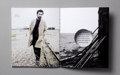 Issue 2 of ARTICLE Magazine, featuring actor Aidan Turner, styled by creative director Kenny Ho
