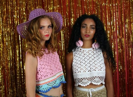 Katie Jones London Fashion Week SS15 crocheted collection
