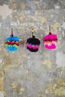 Pompom Lipstick Holder Keychain, Katie Jones / From Somewhere collaboration