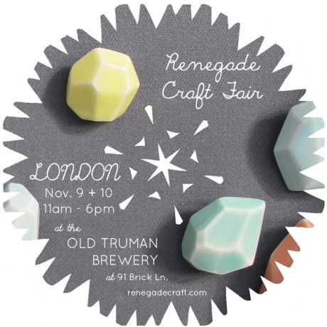 Renegade Craft Fair, November 2013 at Old Truman Brewery, London. Featuring eco-ethical jewellery designer A Alicia