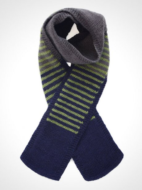 Fair Trade Men's Scarf, hand-knitted in 100% wool, £38 by Here Today Here Tomorrow