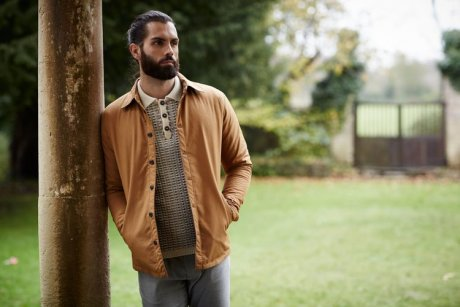 Cactus Quilted Millerain Waxed Cotton in tan, £129 by Peregrine Clothing