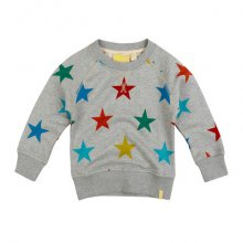 Grey stars sweat top in organic cotton, £24 by Boys & Girls