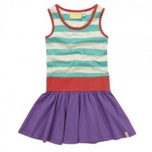 Jade and purple vest dress in organic cotton, £22 by Boys & Girls