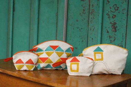 Fair Trade pouches handwoven and block printed in Nepal, £4 - £7 by Here Today Here Tomorrow