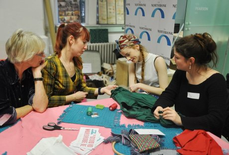 The Good Wardrobe's Sew It Forward session at Hubbub's sustainable fashion event Refashion Day at Somerset House