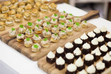 Canapes at the Sew It Forward launch, made by sustainable caterers Squid & Pear