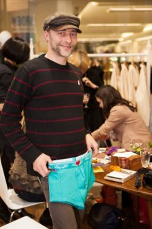 Artist Samuel Birch and his customised briefs from Pants to Poverty