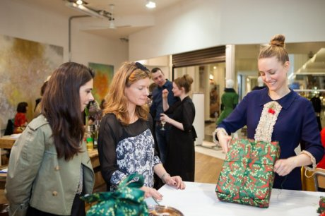 Louise Oldridge and Nicky Rajska from Wrag Wraps with our founder Zoe