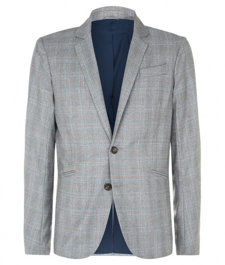 Smart Blazer in Light Grey Check, £275 from new sustainable menswear collection Percival for Traidremade