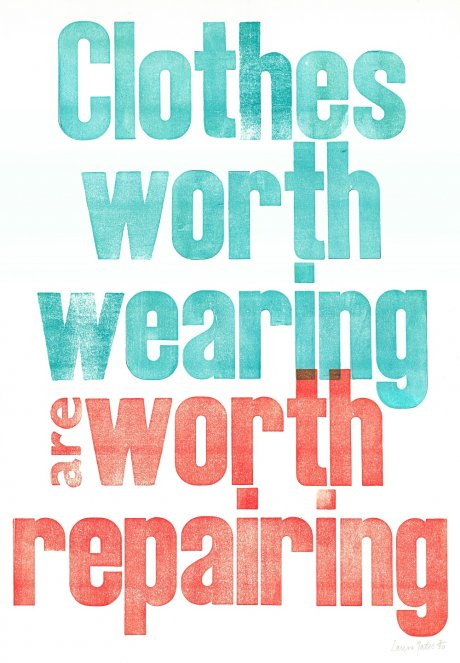 Clothes Worth Wearing are worth repairing, print by Laura Yates for The Good Wardrobe