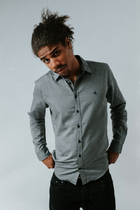 light grey Organic cotton shirt, £22 by THTC
