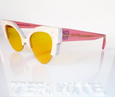 Termite Eyewear London Fashion Week SS15 - handmade in London using sustainably sourced wood and scrap acetate