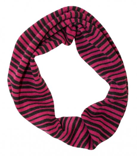Pink and Grey Striped Long Cowl, designed and hand-made in Glasgow using 100% pure lambswool, £45 by Think Boutique