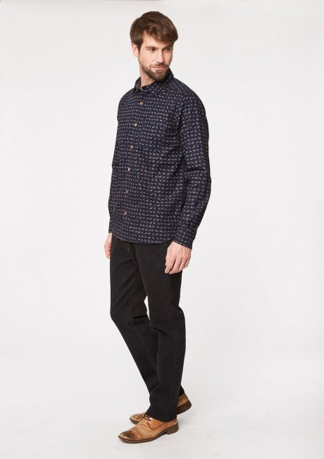 Stags ethical mens shirt in organic cotton by Thought