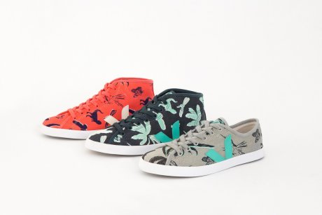 Veja, Lily Cole, Sky Rainforest Rescue collaboration - trainers in organic, fair trade cotton and wild Amazon rubber, from €69