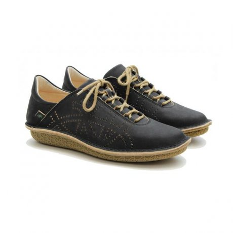 Brill shoes in black with chrome-free leather, coconut husk & natural latex, by Po-Zu ethical footwear
