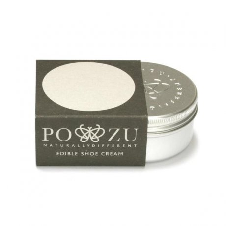 Edible shoe cream from Po-zu ethical footwear
