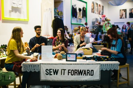 Sew It Forward on Fashion Revolution 2014 in Designer Jumble Westfield