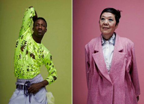 The work of student designers, Brogan Toyn (left) and Jessica Ng (right) of London College of Fashion, All Walks Diversity NOW competition finalists