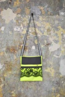 Bag from upcycled high-viz vest, Liora Lasalle / From Somewhere collaboration