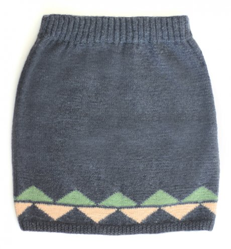 Fair Trade Knitted Skirt in Dusk Blue, £22.50 down from £75 by Here Today Here Tomorrow
